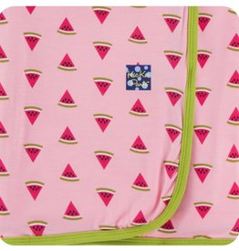 kickee pants lotus watermelon - swaddling blanket