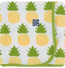 kickee pants natural pineapple - swaddling blanket
