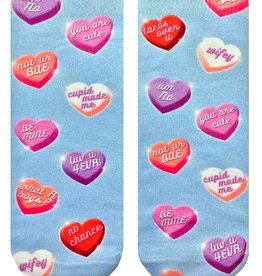 living royal hearts candies ankle socks