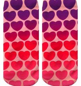 living royal hearts ankle socks