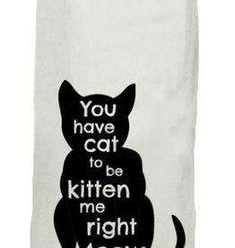twisted wares cat tea towel