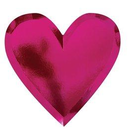 meri meri Die Cut Heart Plate - set of 8
