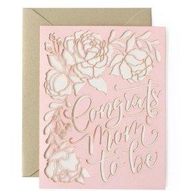 alexis mattox design congrats mom to be laser cut card