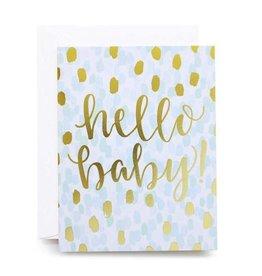 alexis mattox design hello baby foil card