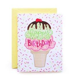 alexis mattox design birthday ice cream printed card