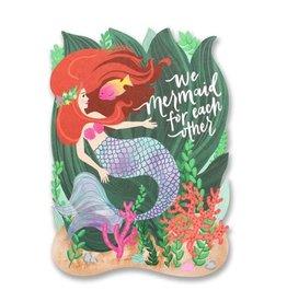 alexis mattox design mermaid for each other die cut card