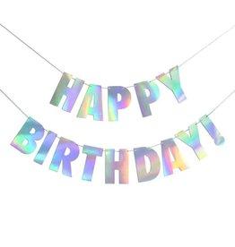 alexis mattox design holographic happy birthday banner