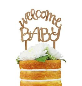 alexis mattox design welcome baby wood cake topper