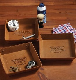 two's company genuine leather tray - 3 quotes