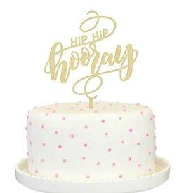 alexis mattox design hip hip hooray gold cake topper
