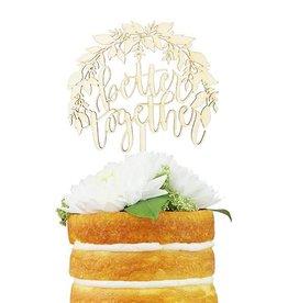 alexis mattox design better together foilage cake topper