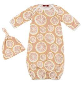 milkbarn grapefruit gown and hat set