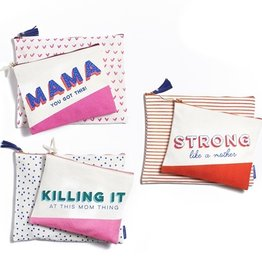 two's company parenthood set of 2 pouches  (3 asst designs)