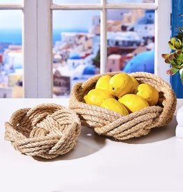 two's company thera set of 2 rope bowls