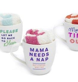 two's company parenthood mug & socks set