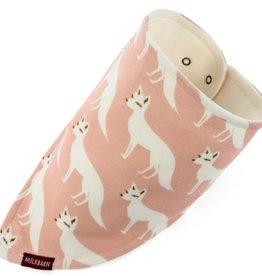 milkbarn pink fox kerchief bib