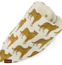 milkbarn cheetah kerchief bib