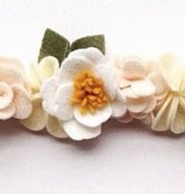 little wild petals peony felt flower crown