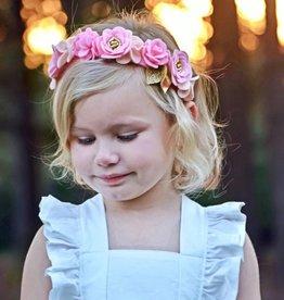 little wild petals pretty in pink felt flower crown