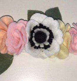 little wild petals black and pink felt flower crown