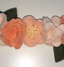 little wild petals peach felt flower crown