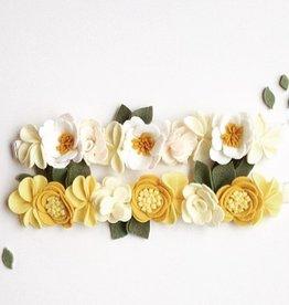 little wild petals mellow yellow felt flower crown