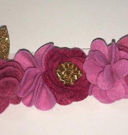 little wild petals fuschia felt flower crown