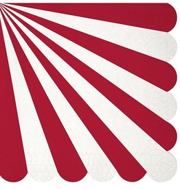 meri meri red stripe large napkins
