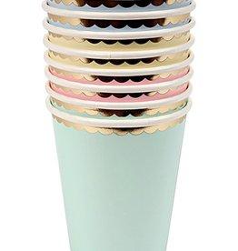 meri meri asstd pastel cups (set of 8)