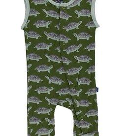 kickee pants moss turtle print tank coverall