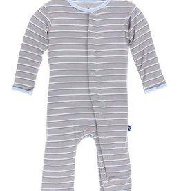 kickee pants boy parisian stripe print coverall with snaps