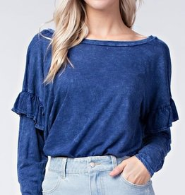 honey punch ruffle long sleeve top