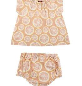 milkbarn grapefruit dress set