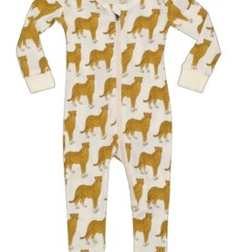 milkbarn cheetah zip pjs