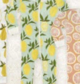 milkbarn blue lemon zip pjs