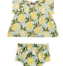 milkbarn blue lemon dress set