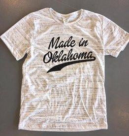 Opolis made in oklahoma script crew tee