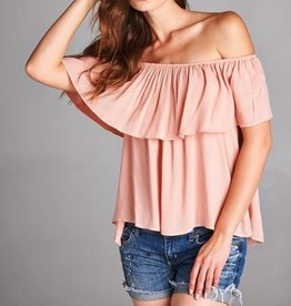 honey punch brittany off the shoulder top