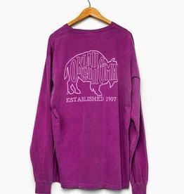 LivyLu bison outline comfort color tee