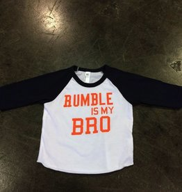 LivyLu rumble is my bro baseball sleeve tee