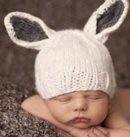 The Blueberry Hill bailey bunny knit hat