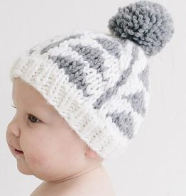 The Blueberry Hill blake triangle knit hat