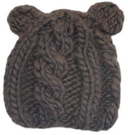 The Blueberry Hill julian cable bear knit hat