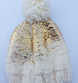 The Blueberry Hill pearl metallic knit hat