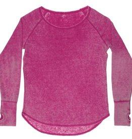 iscream girls round neck thermal shirt