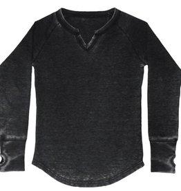 iscream girls v-neck thermal shirt