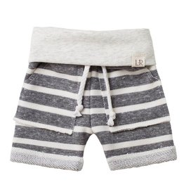 luluandroo chunky gray stripe shorts FINAL SALE