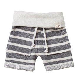 luluandroo chunky gray stripe shorts