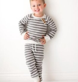 luluandroo chunky gray stripe sweatshirt FINAL SALE