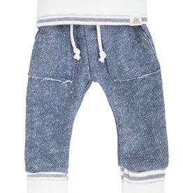 luluandroo slate blue and stone stripe sweats FINAL SALE